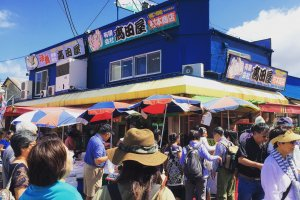 The Hakodate Morning Market is full of hustle and bustle