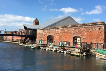The charming red brick warehouses