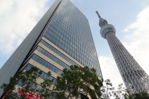Tokyo Solamachi and Tokyo Skytree Tower from the first floor