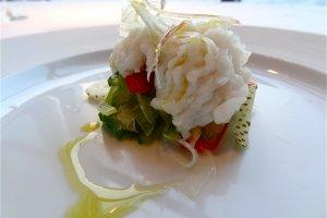 Boiled pickled conger with copunata 'Al-che-cciano style'