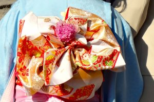 November is the season of 7-5-3, a ceremony where seven-, five- and three-year-old children are celebrated. You will be happy to see cute little girls in colorful kimonos there with their proud parents