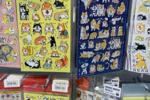 Shiba dog and panda stickers