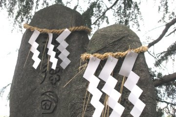 Gohei made of white paper is one of the main Shinto symbols