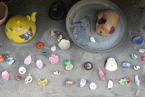 Tiny ceramic ornaments