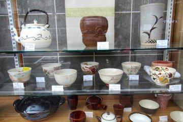 Great choice of pottery can be found in any region of Japan