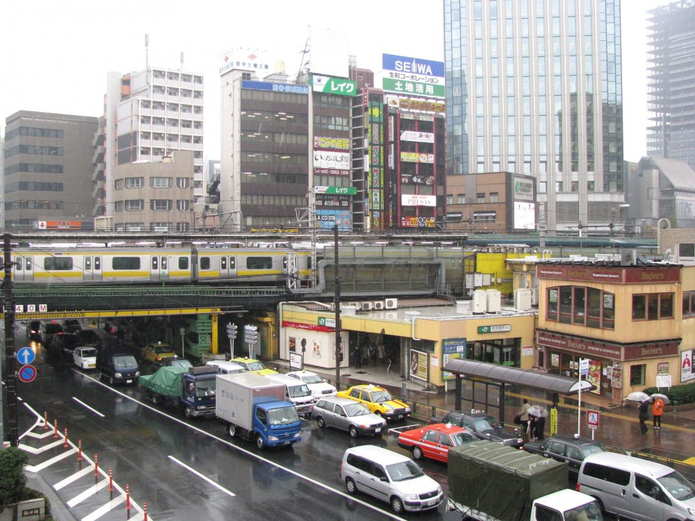 Busy traffic of Tokyo