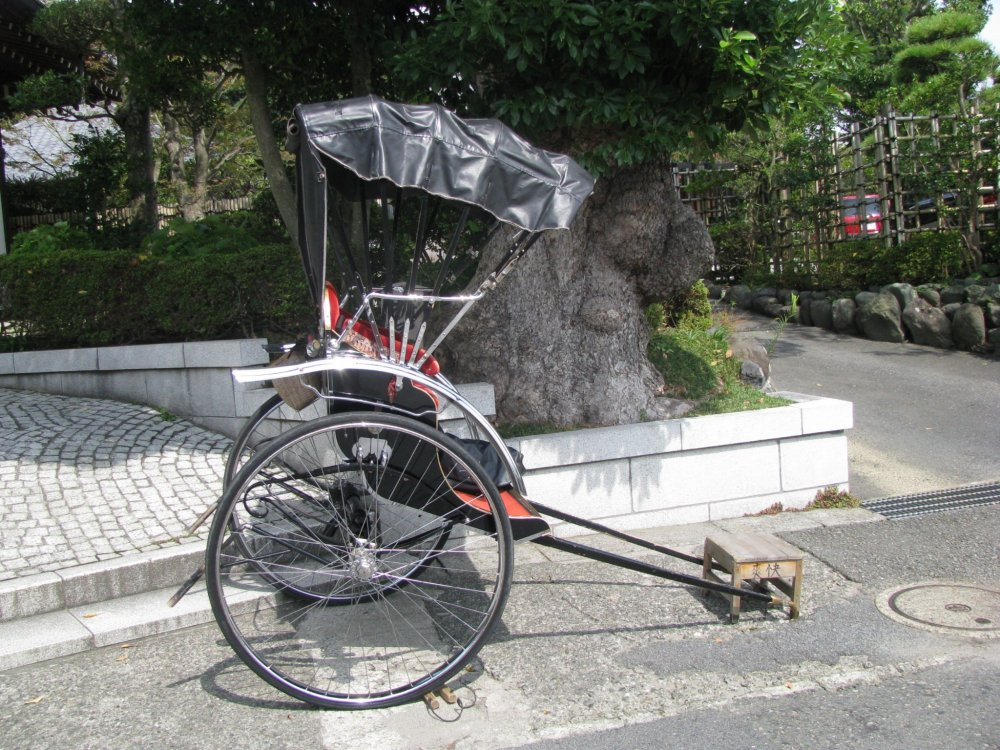 A rickshaw in Kamakura