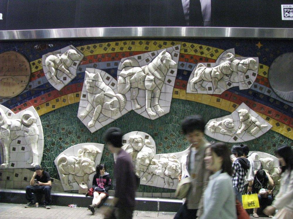 'Hachiko' panel in Shibuya