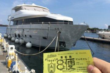 在热海亲水公园坐游览船,欣赏热海这座城市和美丽的相模湾,一共有两种船可以选择