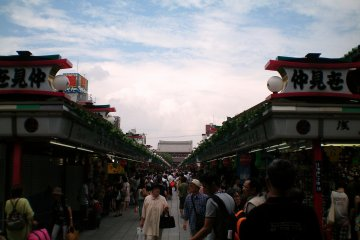 Nakamise is a good place to shop for souvenirs.