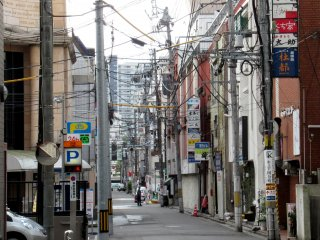 One of the streets in Sendai
