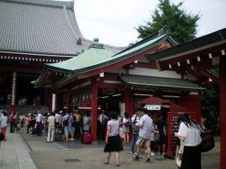 Sensoji Temple's mikuji stall