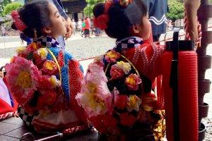 Children ready for tekomai procession