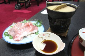 In shabu shabu styled eating, you briefly place the meat in hot water