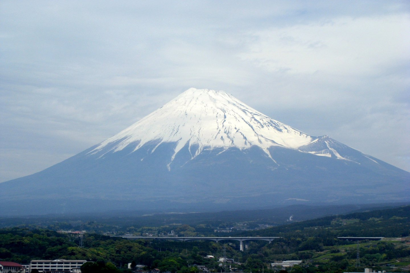A Mt. Fuji photo taken from the shinkansen