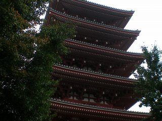 Five-story Pagoda, side view