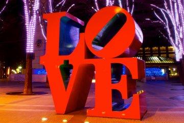 Shinjuku's iconic tribute to LOVE