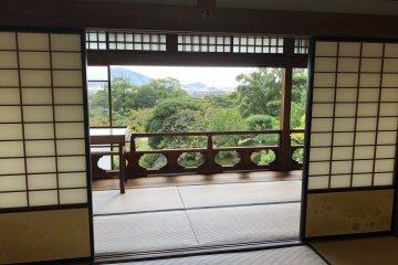Commanding view of Mohri Garden