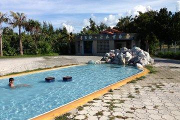 <p>This 20 meter long pool mimics a mountain brook</p>