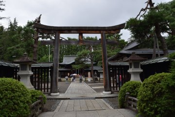 The torii arch by the entrance