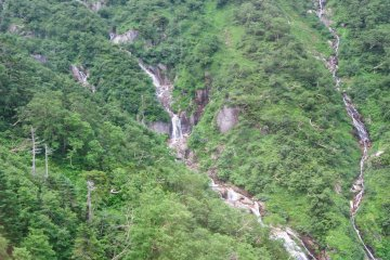 Waterfalls seen from the ropeway