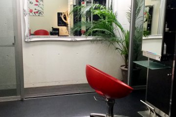 Lower floor salon for hair, makeup and nail specialists