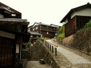 Magome lies on a steep slope.