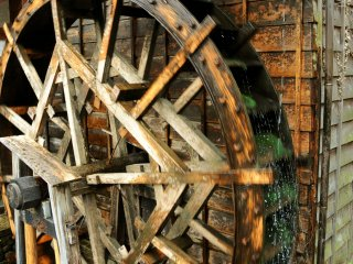 An old waterwheel