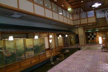 Hotel Yagi's beautiful lobby