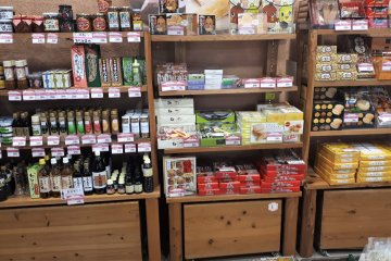 Shelves of local products