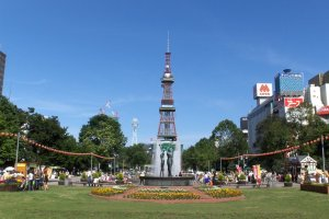 Part of the festival takes place at Odori Park