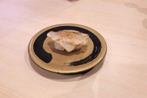 A plate of fugu puffer fish