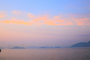 The evening view of the Seto Island Sea