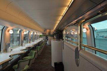 Shimakaze train: café car