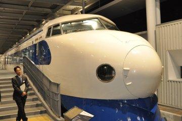 Kyoto Railway Museum: first shinkansen model