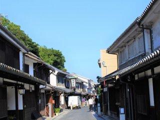 The beautiful townscape of the Kurashiki Bikan Historical area