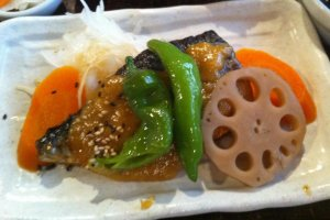 Saba or Mackeral with japanese vegetables