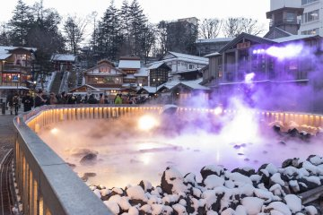 Kusatsu Onsen during Winter