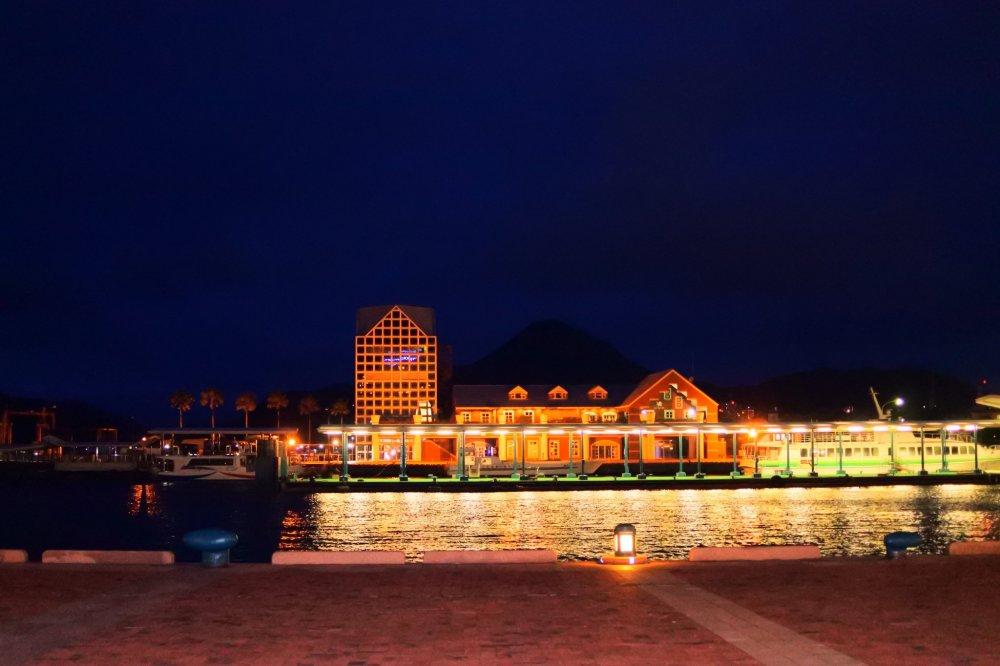 Sasebo Port at night