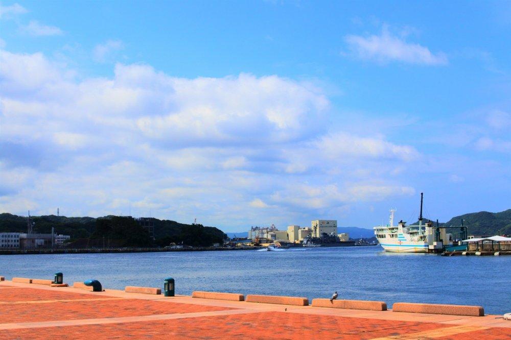The good scenery of Sasebo Port