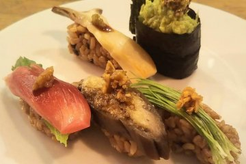 Vegan friendly sushi at KiboKo, Tokyo