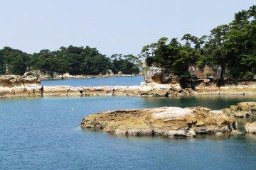 Rocky coves in Kujukushima National Park