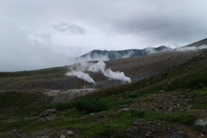 Le décor volcanique de la randonnée