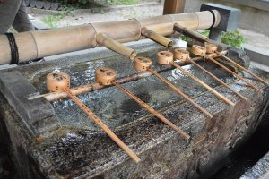 The washing area at a shrine