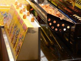 ขนมวาฟเฟิลโปเกมอน คุณสามารถซื้อได้ในราคา 20 ตัวต่อ 500 เยน