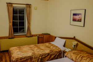 Western style rooms are large, well equipped and clean