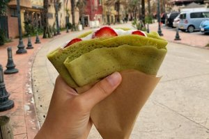 Vegan crepes? They exist, in Okinawa!