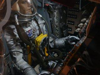 The spacious interior of the Mercury capsule