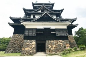 The route takes you past Matsue Castle