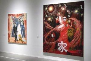 Art at the Yokoo Tadanori Museum in Kobe